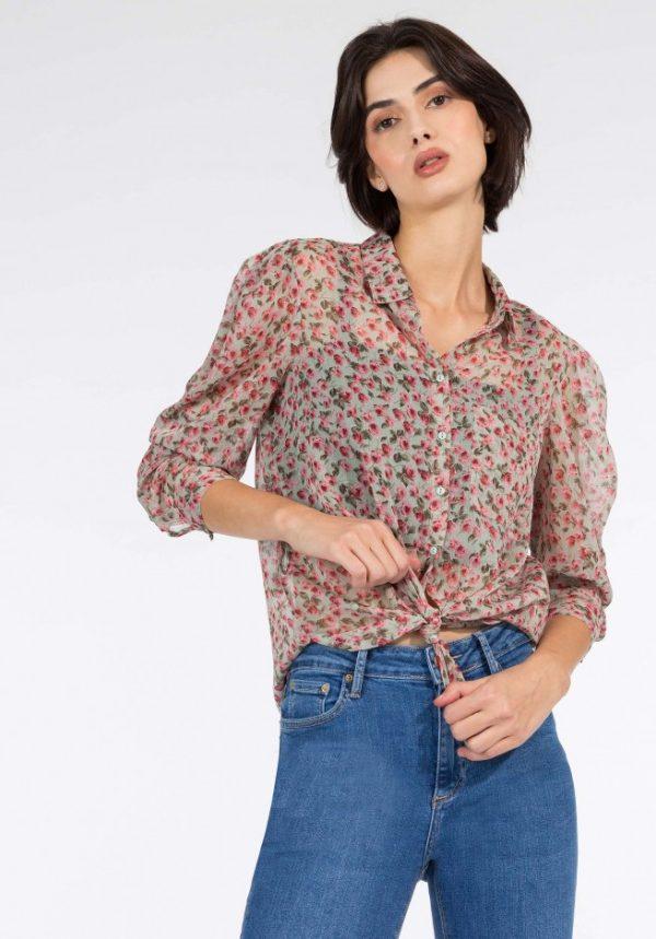 Camisa Alba Manga Larga