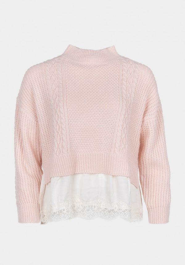 Sweater Bajo Puntilla