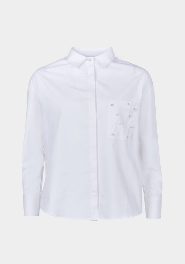 Camisa Bolsillo Perlas