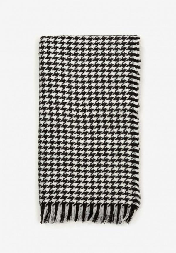 Bufanda manta pata de gallo negra