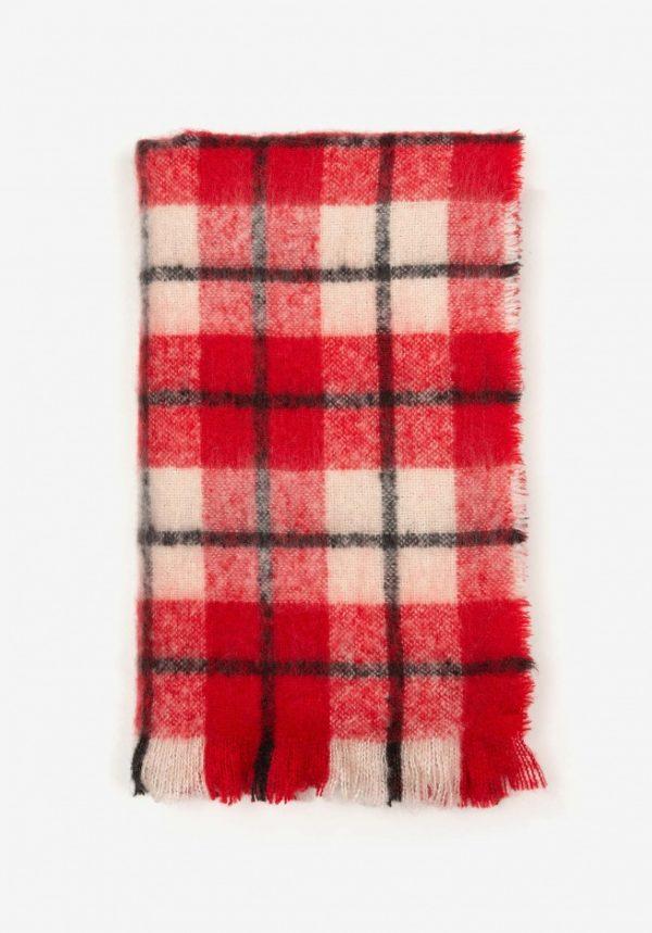 Bufanda manta suave roja