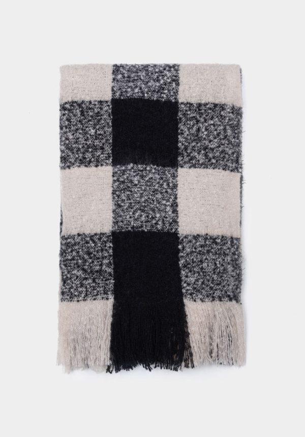 Bufanda rayas anchas negras