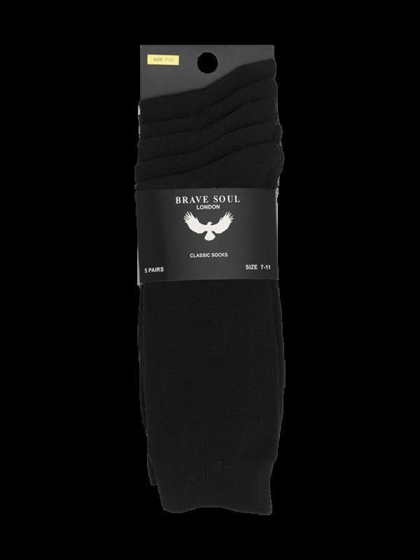 Calcetines color negro (5 pares por pack)