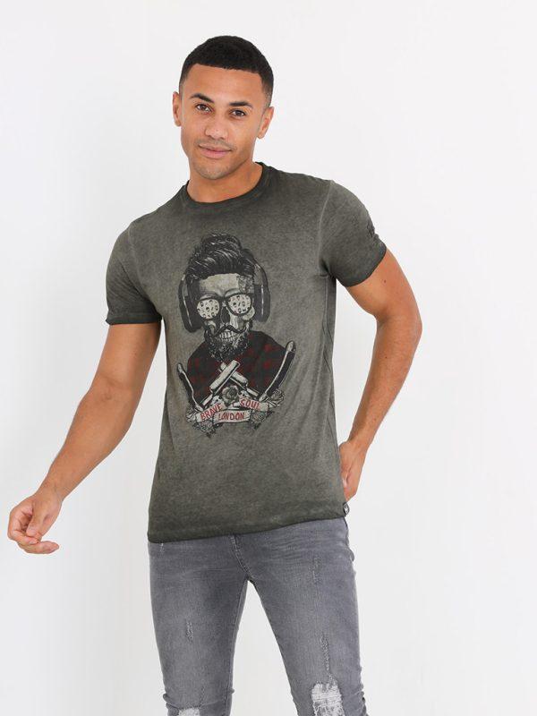 Camiseta Calavera ( Verde Lavado)Camiseta Calavera ( Verde Lavado)